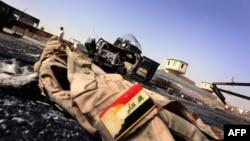 یونیفرم سرباز عراقی پس از هجوم نیروهای داعش