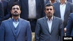 سعید مرتضوی در کنار محمود احمدینژاد