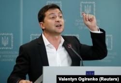 Владимир Зеленский на пресс-конференции в Киеве, 1 октября