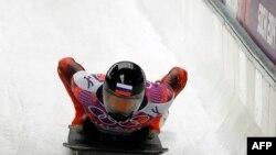 Российский скелетонист Сергей Чудиновым на Олимпиаде в Сочи. 15 февраля 2014 года.