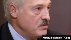 Аляксандар Лукашэнка падчас сустрэчы з Уладзімірам Пуціным