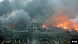 Взрыв в Тяньцзине, северный Китай