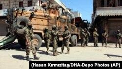 Турецкие солдаты в Африне на северозападе Сирии, 19 марта 2018 года