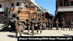 Soldați turci la Afrin, 19 matrie 2018