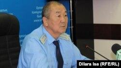 Марат Әлімбеков, Оңтүстік Қазақстан облыстық прокурорының орынбасары. Шымкент, 9 қыркүйек 2016 жыл.
