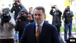 Поранешниот премир и лидер на ВМРО-ДПМНЕ, Никола Груевски