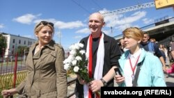 Зустріч Алеся Беляцького в Мінську, 21 червня 2014 року
