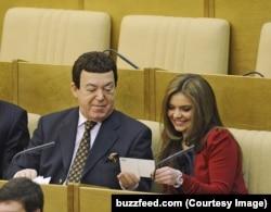 Алина Кабаева с часами от Breget