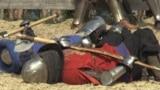 Ukraine - Kopachiv - championship in medieval-style combat - screen grab - AFP