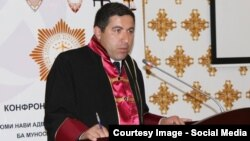 One of the men convicted, Buzurgmehr Yorov (pictured), is a lawyer who has represented members of the banned Islamic Renaissance Party of Tajikistan. (file photo)