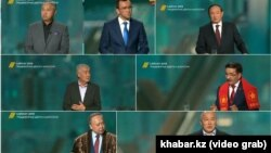 Кандидаттар теледебаты. Скриншот.