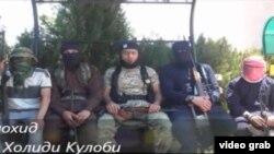 Сириядагы согуштук аракеттерге катышып жүргөн тажик жарандары.
