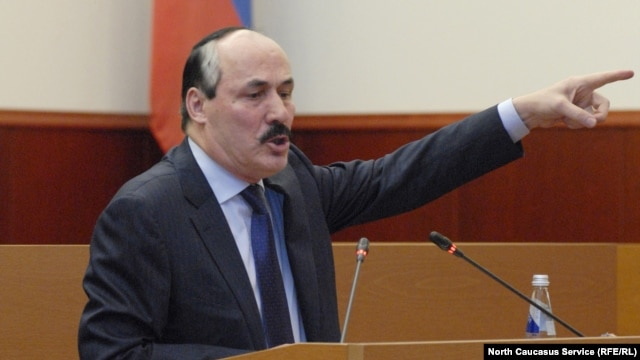 Acting Daghestan leader Ramazan Abdulatipov in the People's Assembly in January, when he was named acting president by Russian President Vladimir Putin.
