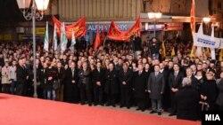 Лидерот на ВМРО-ДПМНЕ Никола Груевски на митинг во Гевгелија. Избори 2014