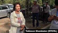 Almazbek Atambayevning turmush o'rtog'i Raisa Atambayeva.