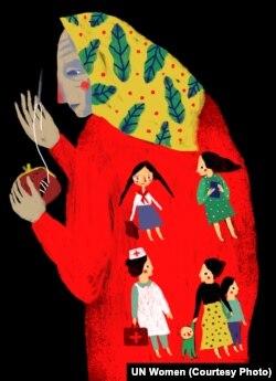 В Україні літні жінки становлять 85% людей похилого віку, які живуть самі, відчуваючи ізольованість від суспільства (автор ілюстрації: Дана Рвана)