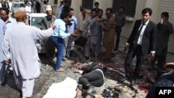 На месте взрыва возле больницы