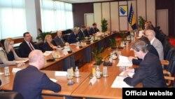 Predstavnici Vijeća ministara BiH sa delegacijom EBRD-a, Sarajevo 2017.