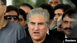 FILE: Pakistani Foreign Minister Shah Mahmood Qureshi.