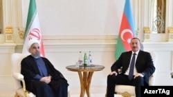 İlham Əliyev Həsən Ruhani ilə görüşüb, 7 avqust, 2016