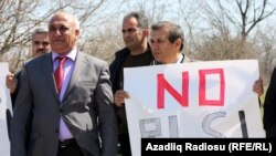 Azerbaijan – protest against Gabala Radio Location Station, operated by Russia, 31Mar2012