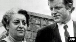 Индира Ганди и американский сенатор Эдвард Кеннеди