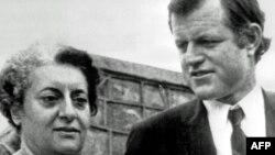 Baş nazir Indira Gandhi ABŞ senatoru Edward Kennedy ilə, 1971