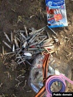 Фотографія з блокпосту в Краматорську звільненого від бойовиків (джерело: http://balyua.wordpress.com/)