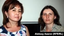 Музыковеды Галия Бегембетова и Валерия Недлина. Алматы, май 2012 года.