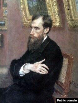 Павел Третьяков, Портрет работы Ильи Репина