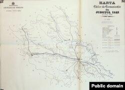 Județul Iași: căile de comunicație la 1897