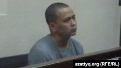 Сотталушы Қанат Ақылбеков апелляциялық сот отырысында. Шымкент, 27 маусым, 2014 жыл.