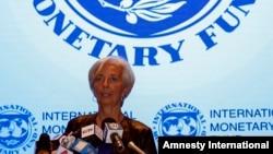 کریستین لاگارد رئیس صندوق بینالمللی پول