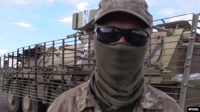 RFE/RL's Ukrainian Service filmed the disgruntled soldier last week.
