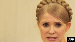 Yulia Tymoshenko speaks during a sitting of the Higher Administrative Court in Kyiv.