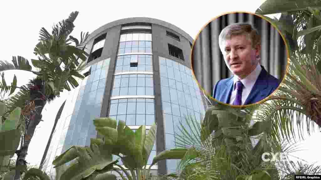 А на першому поверсі високої скляної будівлі журналісти виявили кіпрський офіс SCM – бізнес-імперії найбагатшого українця (за версією Forbes) Ріната Ахметова