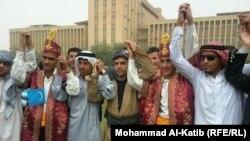 جامعة الموصل. طلاب بملابس قوميات عراقية