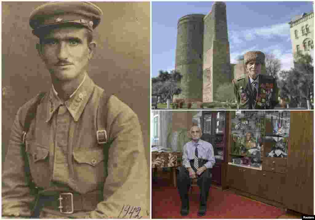 Аллахверди Алиев, 102 года. Азербайджанский офицер служил в кавалерии Красной армии с ноября 1941 по 1944 год. Был ранен. Победу отпраздновал в госпитале Варшавы.