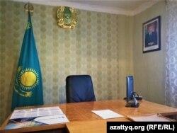 Кабинет акима Приреченского сельского округа. 20 апреля 2021 года.