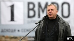 Бугарскиот министер за одбрана и вицепремиер Красимир Каракачанов во почетокот на кампањата за парламентарните избори во Бугарија, 06.03.2021