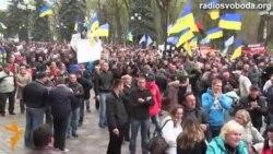 Гучна реакція мітингувальників на скасування утилізаційного збору