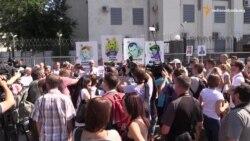 «Росії ганьба!» – учасники мітингу на підтримку Сенцова та Кольченка