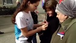 Вибори в Алушті: «волонтери перемоги» й триколор (відео)