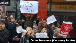 Proteste la Iasi, Dragnea huiduit