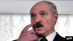 President Lukashenka speaks to journalists after voting today