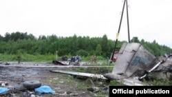 На месте падения Ту-134 под Петрозаводском
