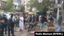 Pamje pas sulmit të sotëm në Xhalalabad të Afganistanit