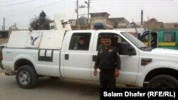 احدى سيارات الشرطة في ميسان