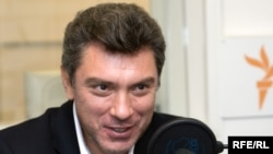 Russia - Leader of the opposition party Union of Right Forces (SPS) Boris Nemtsov, Moscow studio, 29Sep2008, время гостей