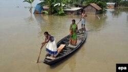 Poplavom zahvaćeno područje u Indiji.